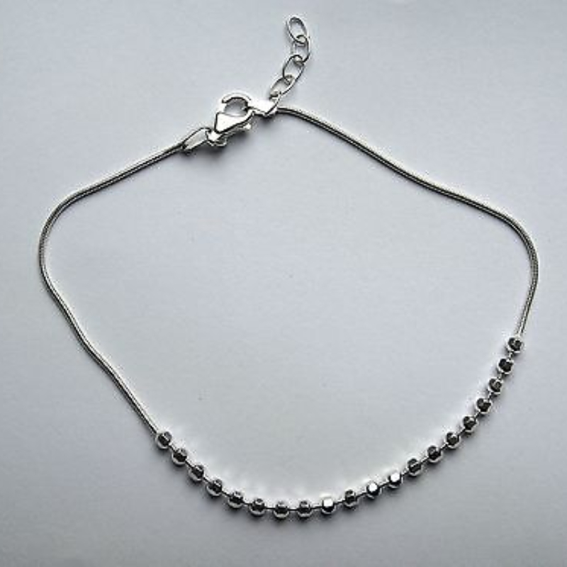 ankle product amberta chain inch silver bracelets classic flexible adjustable to anklet fit sterling