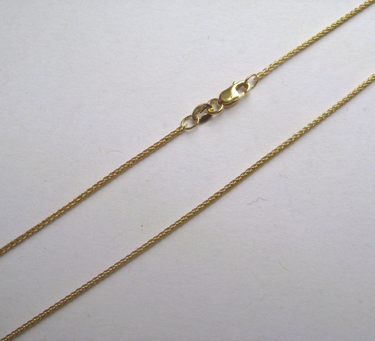 inches gold wheat spiga chains yellow mm chain