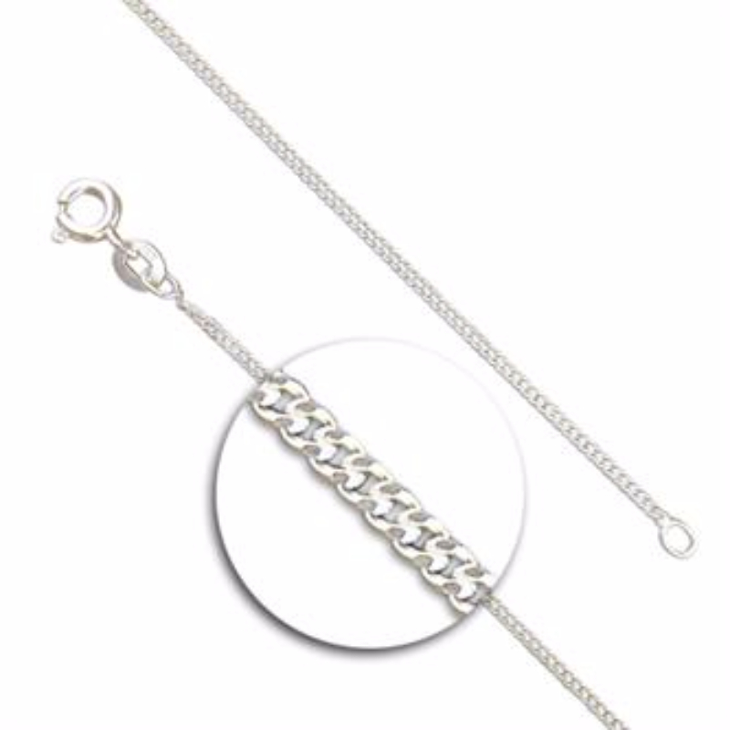sterling on identity initial product roxluna curb chain necklace silver jewellery