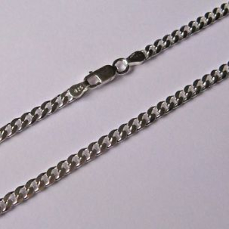lengths silver gauge curb chain cuban products sterling available necklace in