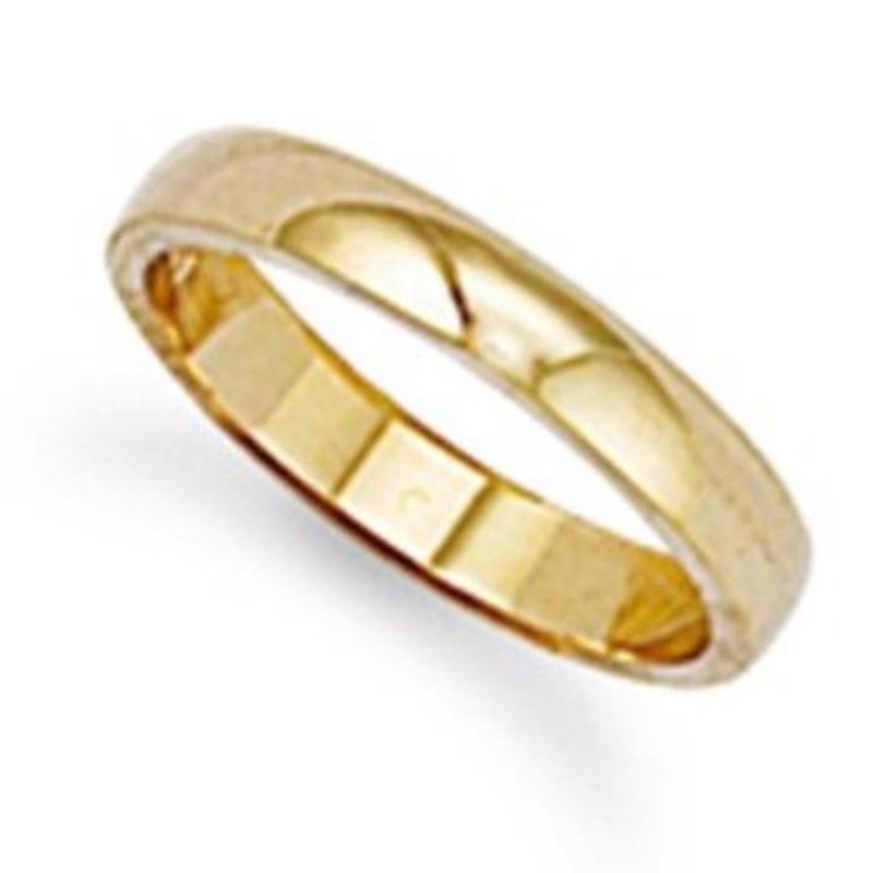 3mm thick 22ct Gold DShape Wedding Ring 36g Sizes IZ
