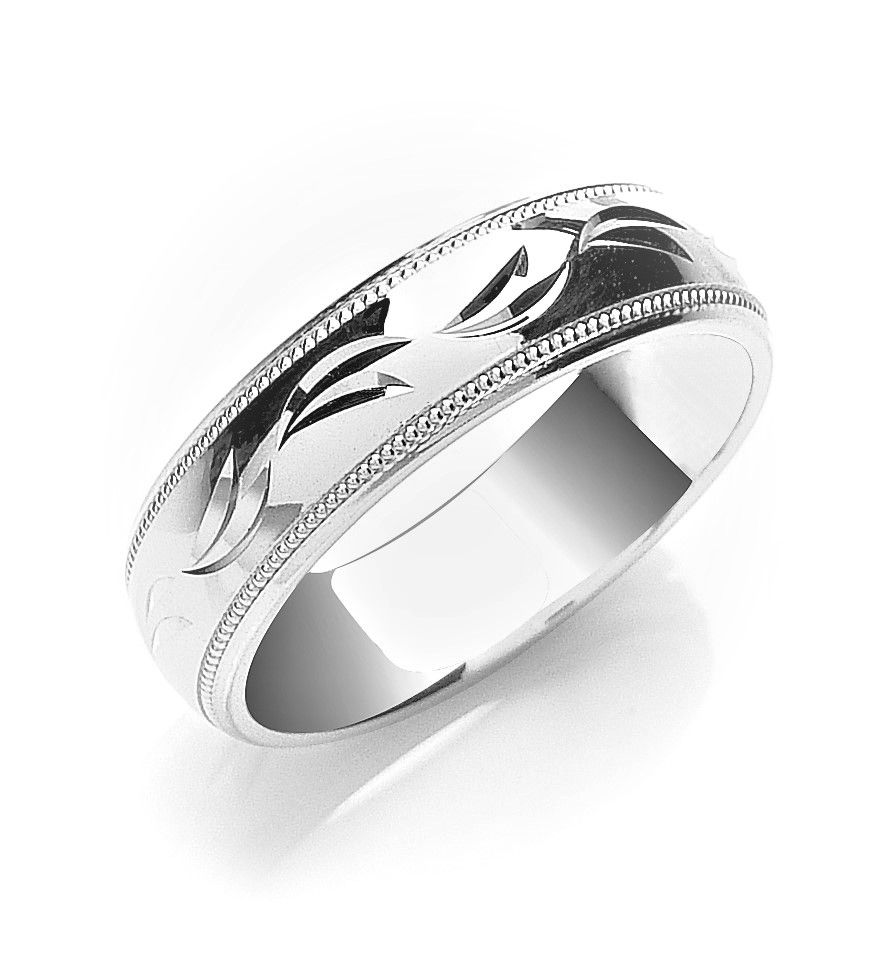 mens bands polished beveled platinum edge men profile designer quick band wedding view s p ring