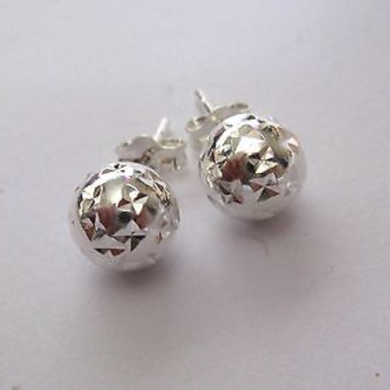sterling stud in mm ball earrings silver fashion