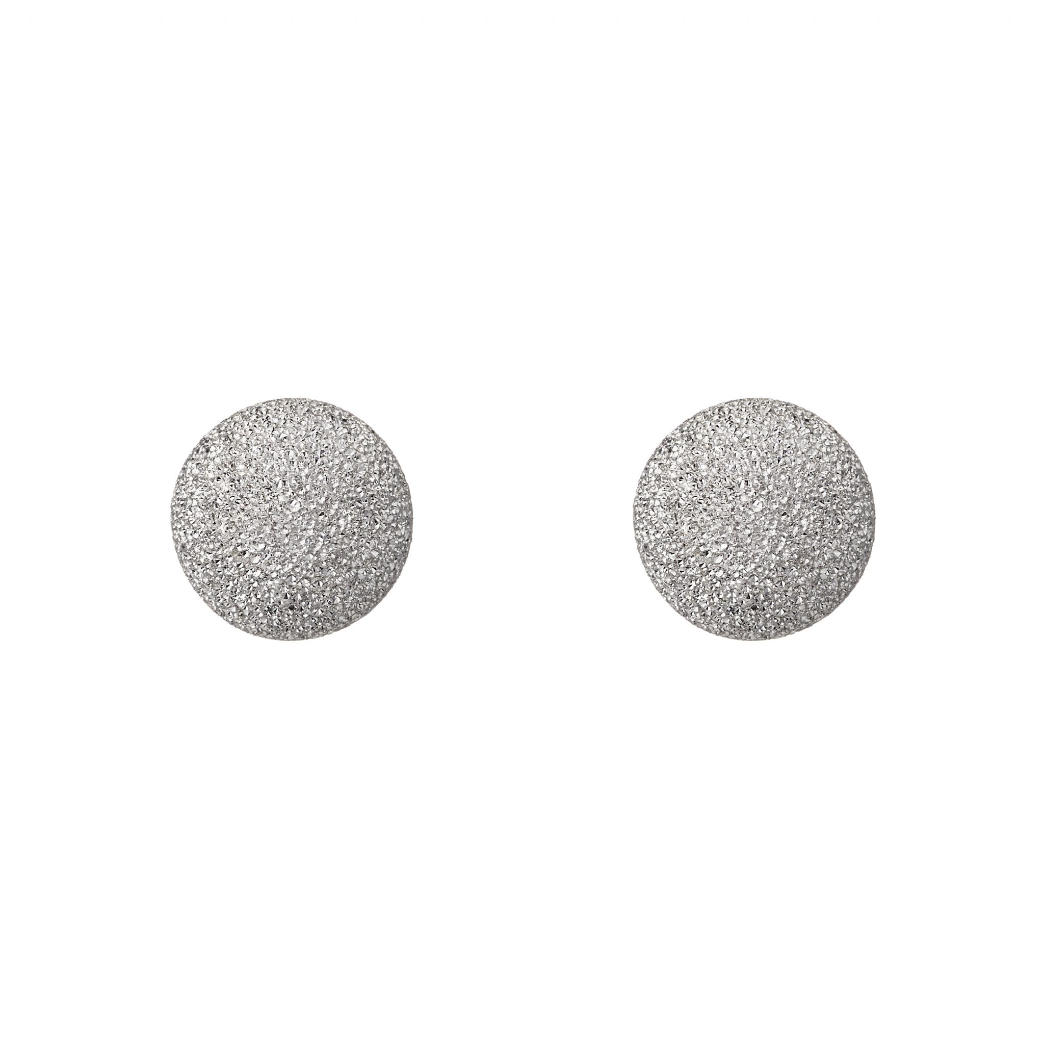 8mm Sterling Silver frosted ball stud earrings