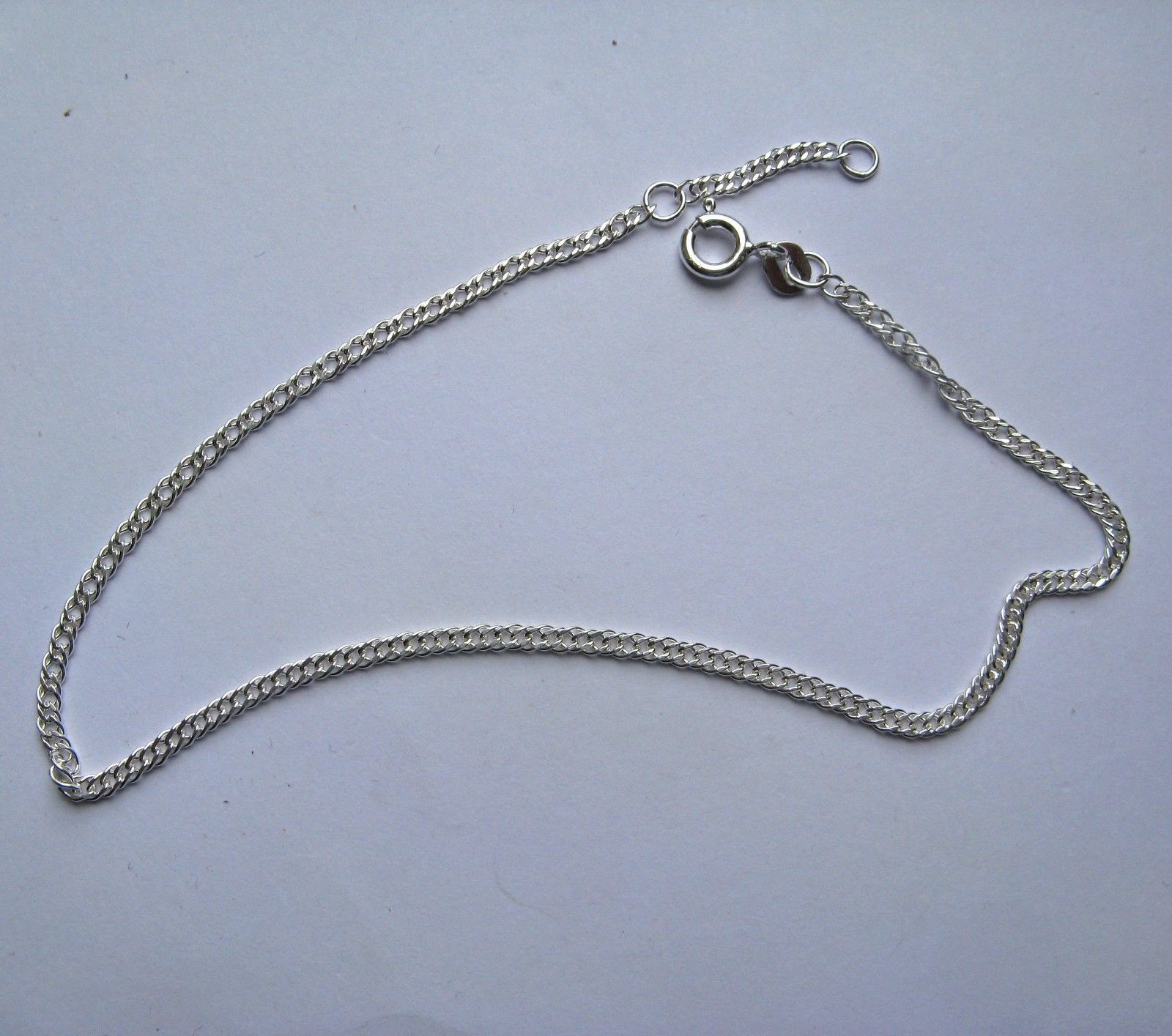 oval silver anklets link sterling station co bow jewelry the by anklet black inch collections
