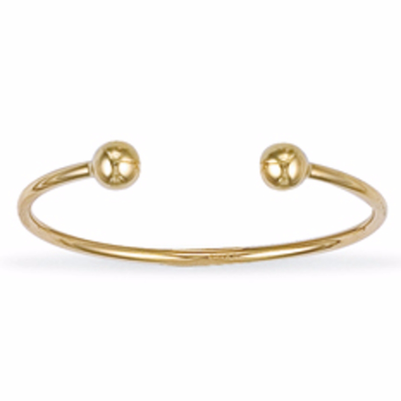 gold hollow bracelet cuban yellow