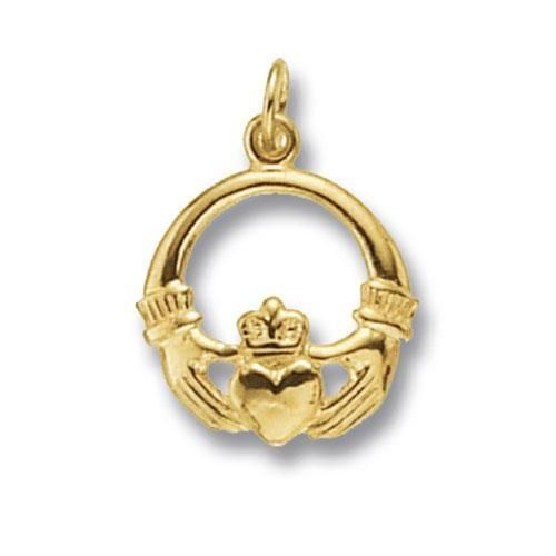 and pendant gold jewellers silver chain claddagh rose sterling
