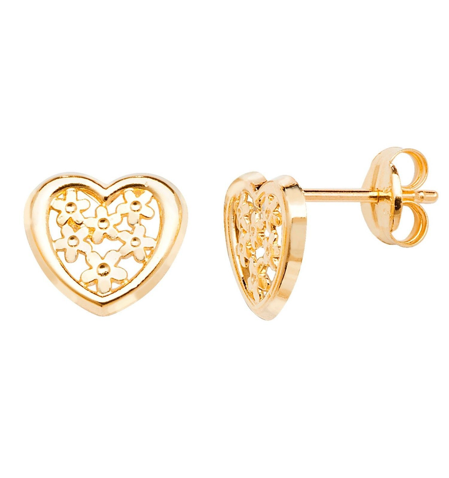 yellow stud jewellery edgle earrings image shaped beaded new heart gold