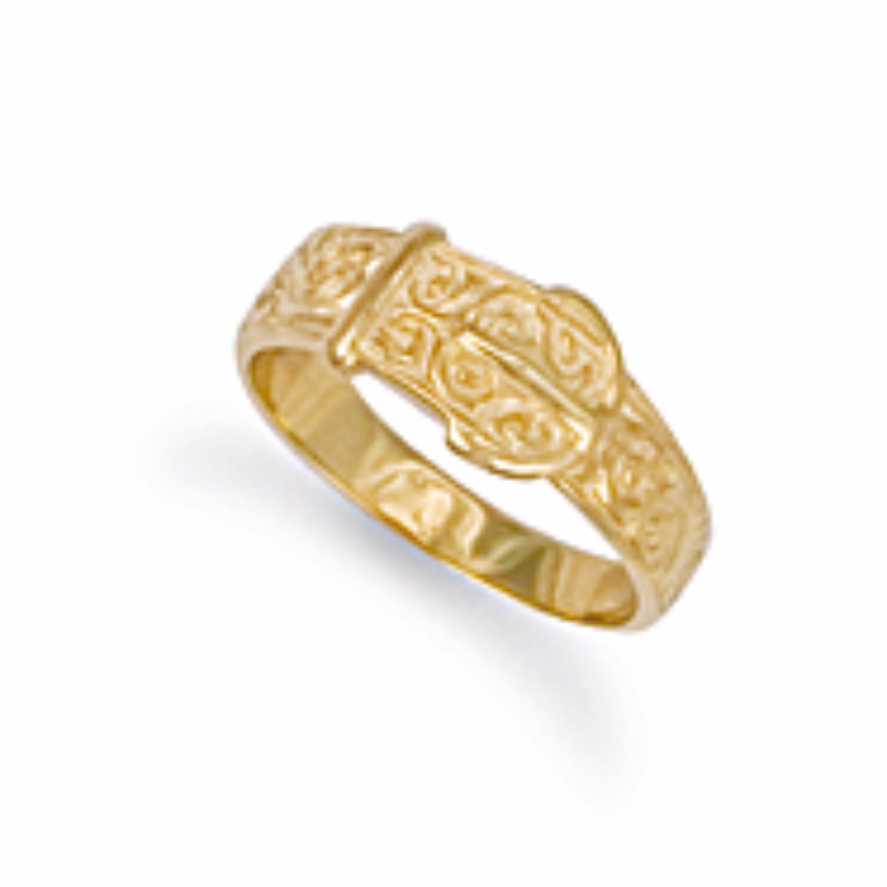 9ct gold belt buckle ring 2g