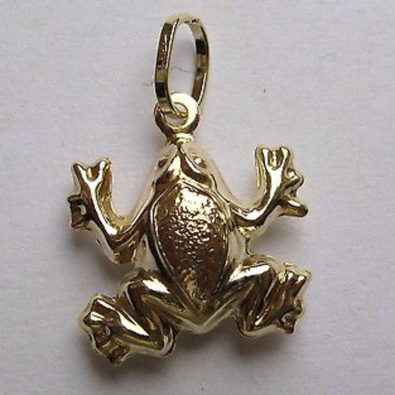 9ct gold lightweight frog pendant 08g mozeypictures Image collections