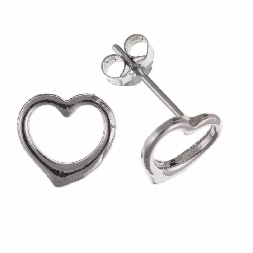 kenneth jay shaped silver stud zirconia earrings cubic heart i lane