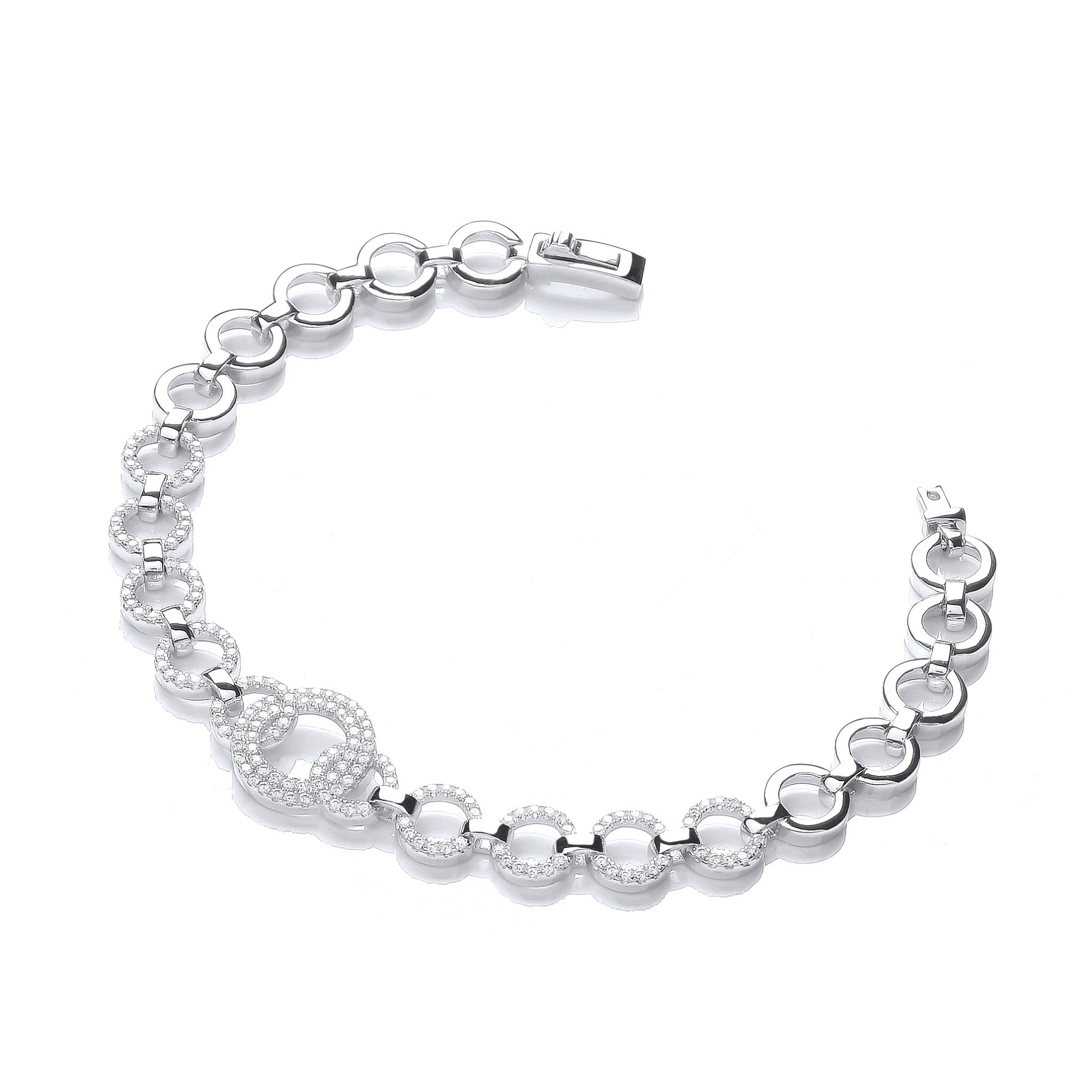 rhodium zirconia plated bracelet bangles bracelets beautiful cubic