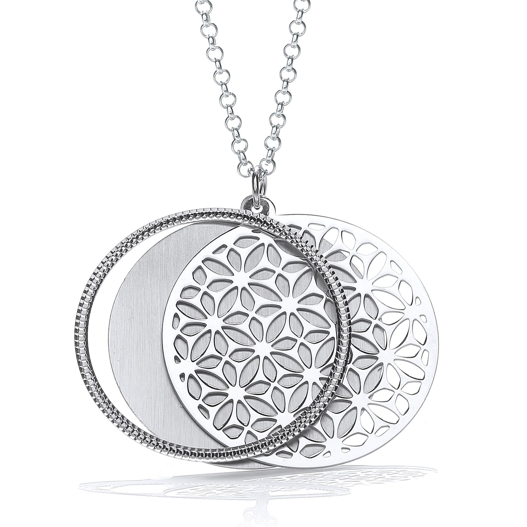 sportun products necklace pendant slider petal domed anne