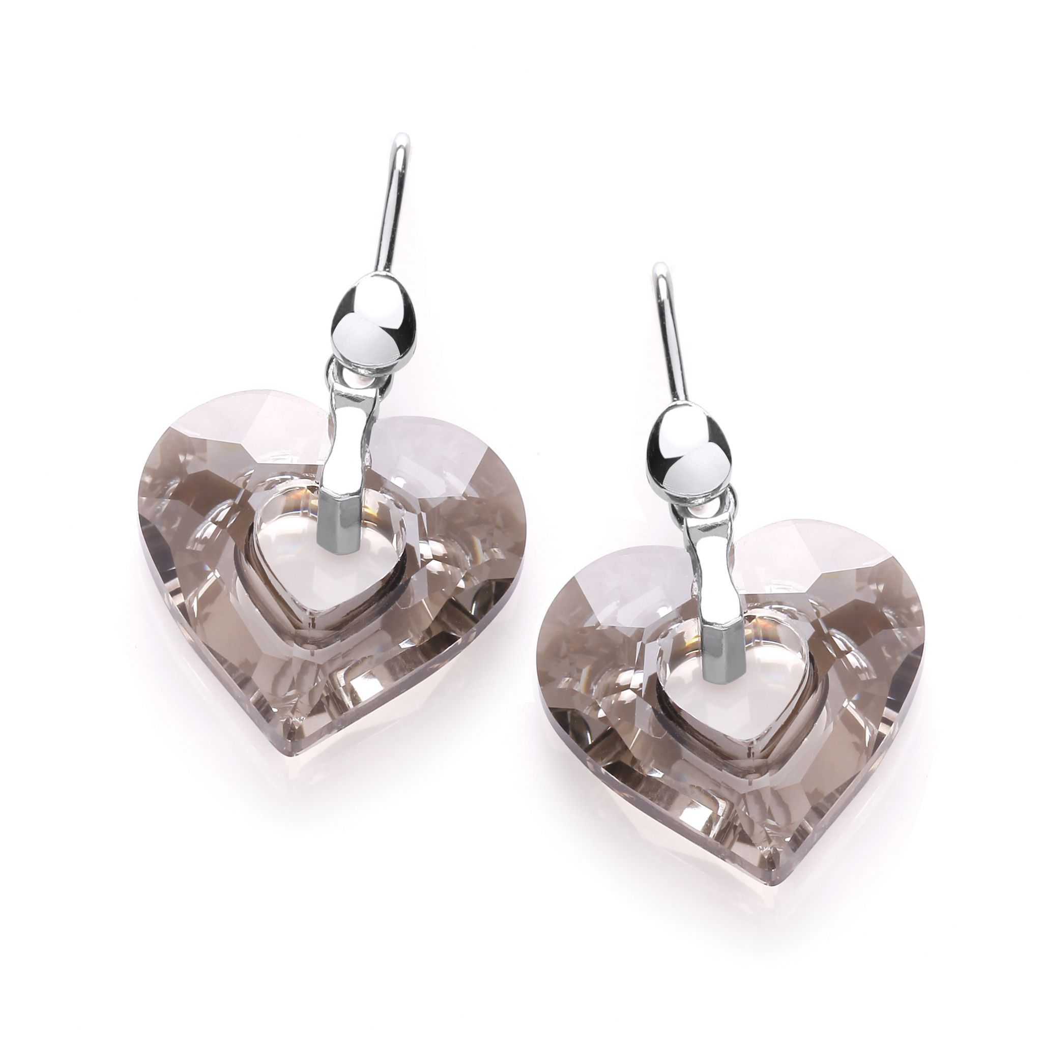 earrings elina gleizer shape heart golden products jewelry