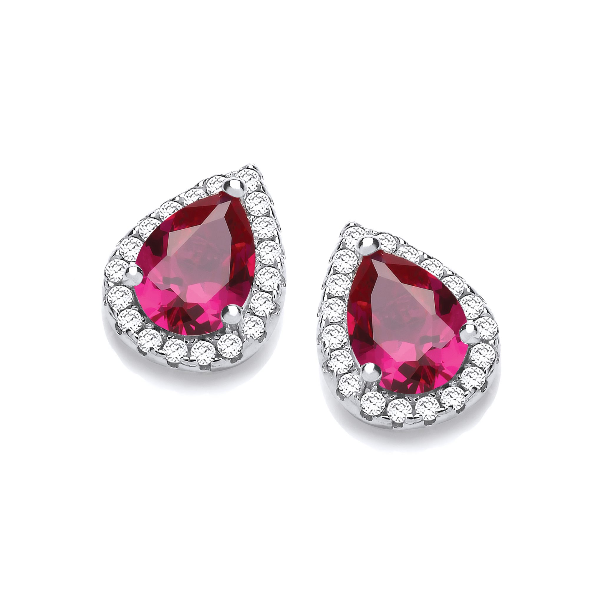 created ruby itm with in sterling ct earrings silver diamonds stud