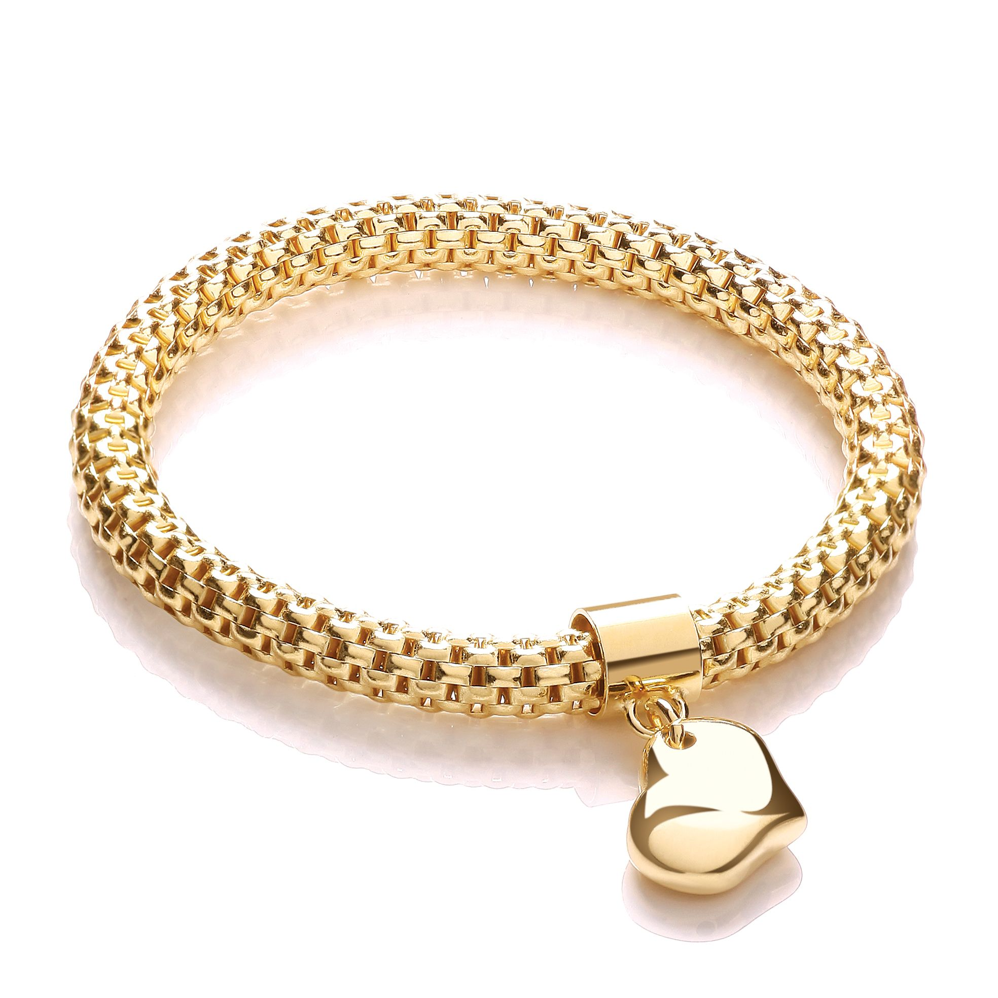fancy links bangles padlock charm with round heart bracelet yellow bangle gold bracelets
