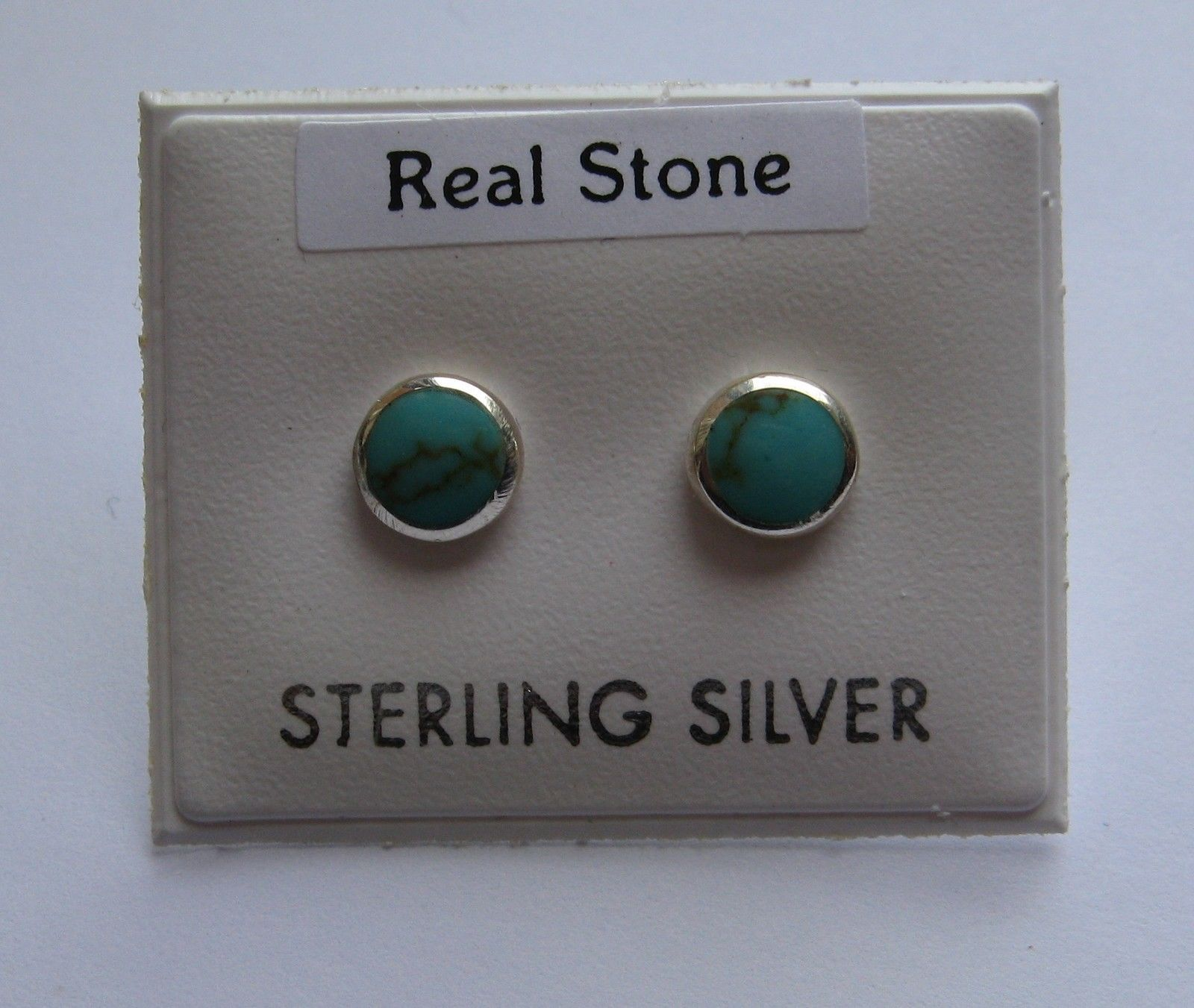 earrings little real stud turquoise