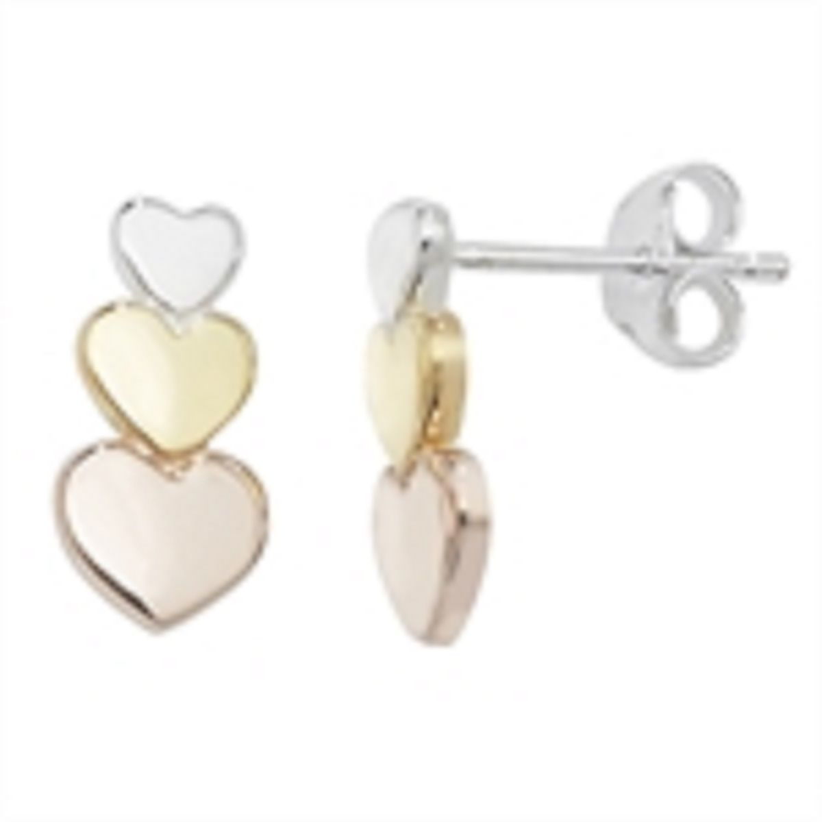 stud heart earrings tone gold kors michael shaped