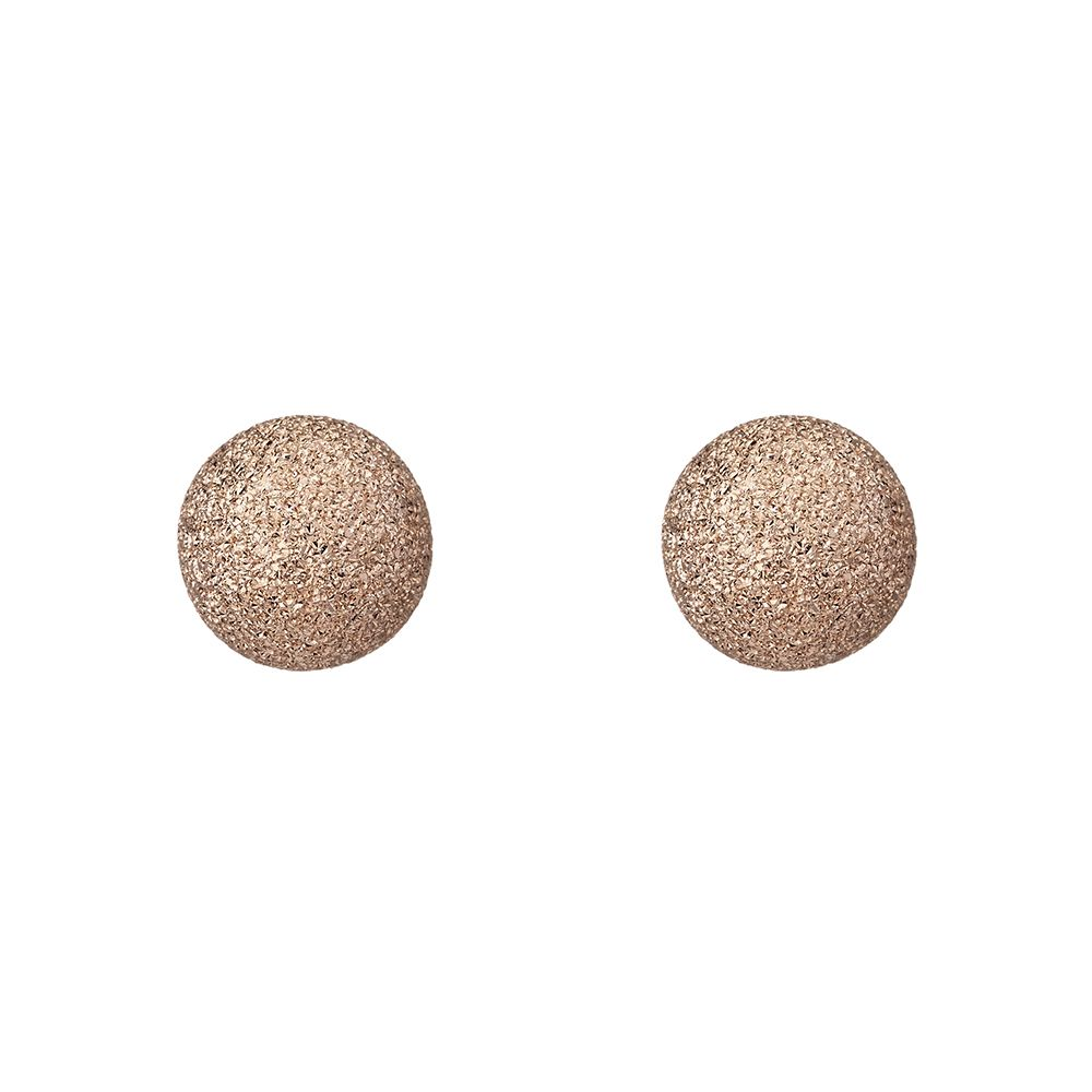 0bc72adeb ... Sterling Silver rose gold plated frosted ball stud earrings. variant  attributes variant attributes variant attributes variant attributes.  Condition: New