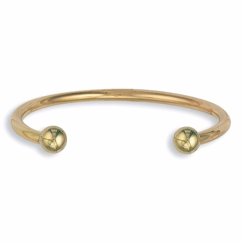 ccd64ac1f 9ct Gold 4mm Thick Ladies Torque Bangle 22g