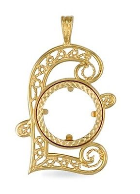 9ct gold full sovereign coin pendant mount 61g aloadofball Image collections
