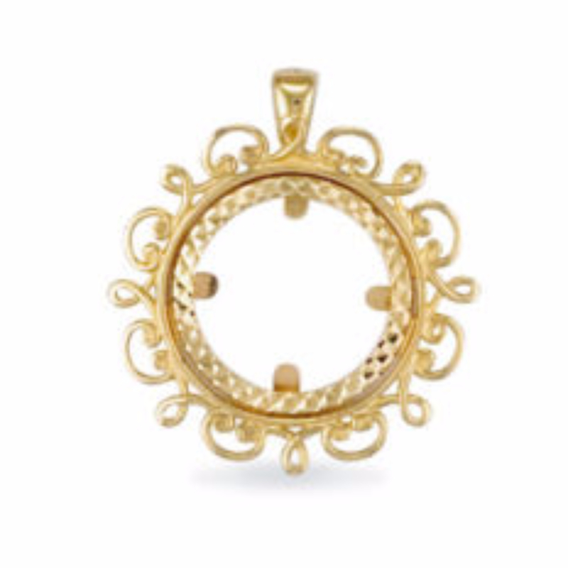 9ct gold half sovereign coin pendant mount 35g aloadofball Image collections