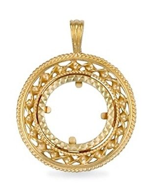 9ct gold half sovereign coin pendant mount 38g aloadofball Image collections