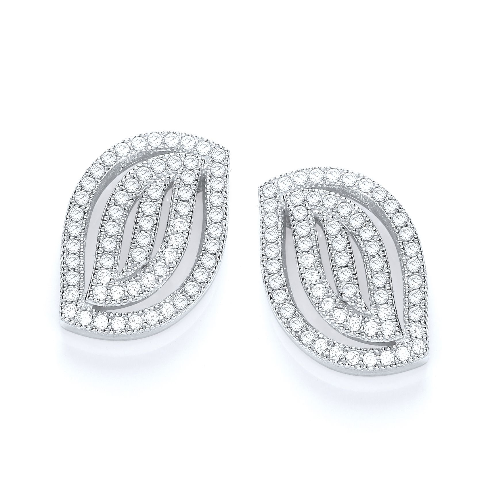 d574ab610 ... Sterling Silver Micro Pave Cubic Zirconia Leaf stud earrings variant  attributes variant attributes variant attributes. Brand: J-Jaz